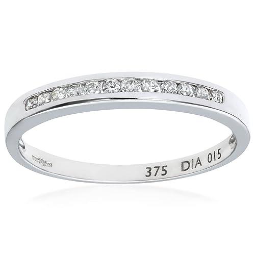 ef74c462919f Naava Anillo para Mujer de Oro con Diamantes  Amazon.es  Joyería