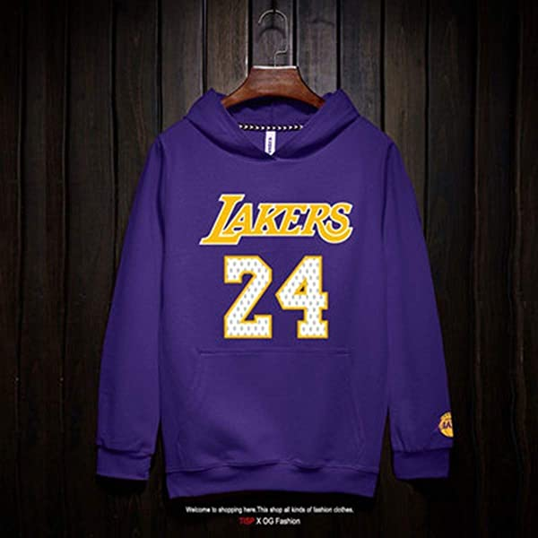 GUAN Mens And Womens Basketball Hoodie Sweater Long Sleeve,M Lakers 8# Kobe Bryant Jersey Basketball Jersey T-Shirt