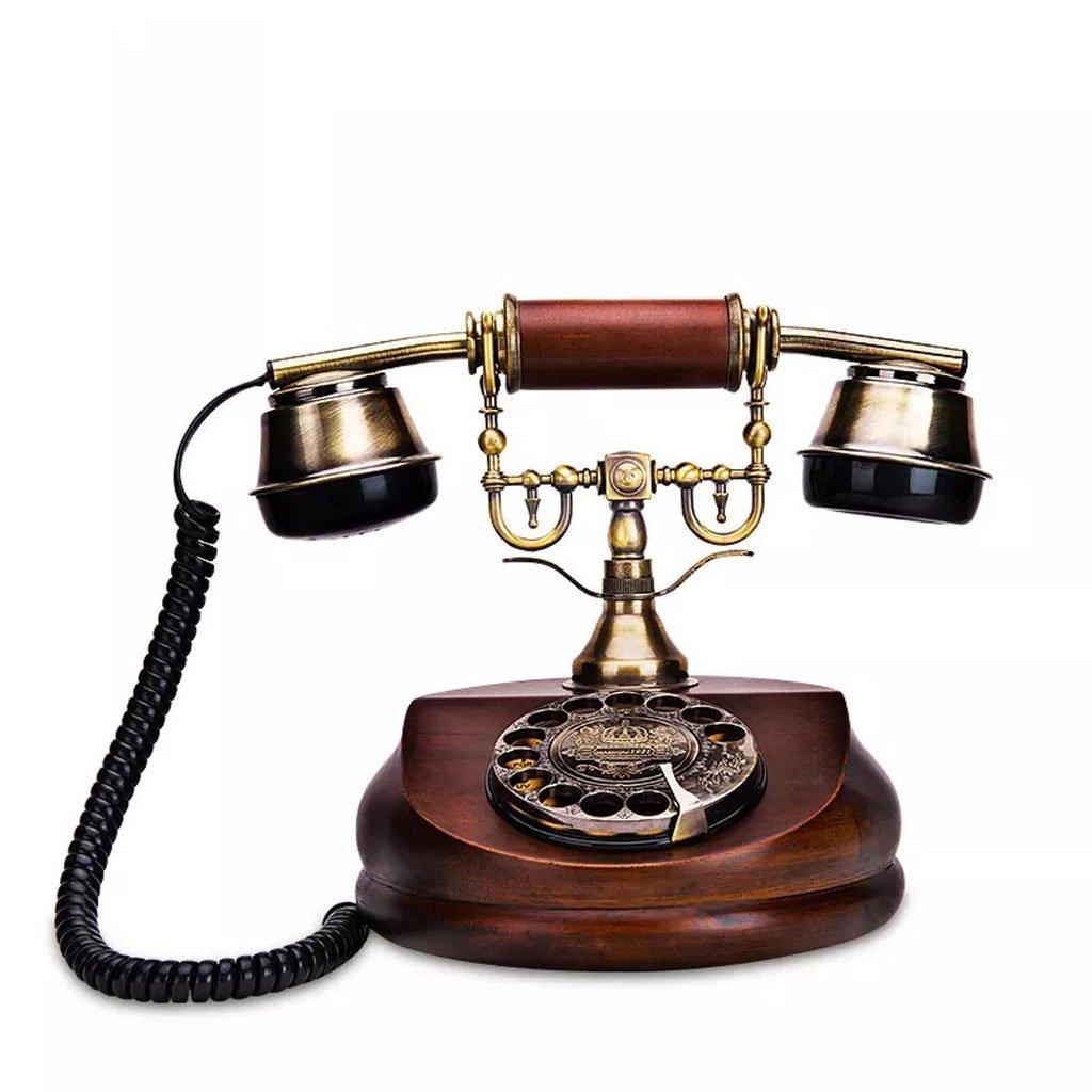 ヨーロッパのレトロ電話ロータリーダイヤルアンティークの固定電話ホームオフィスクリエイティブデコレーション固定電話   B07H59HQB3
