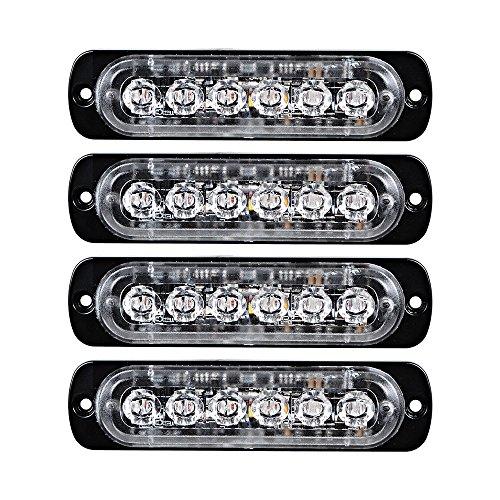 Astra Depot 4pcs Amber LED Side Strobe Light Warning Emergency Caution Construction Car Truck Van