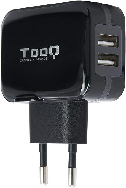 TooQ TQWC-1S02 - Cargador de pared con 2 x USB (5V - 3.4 A, 17 W ...