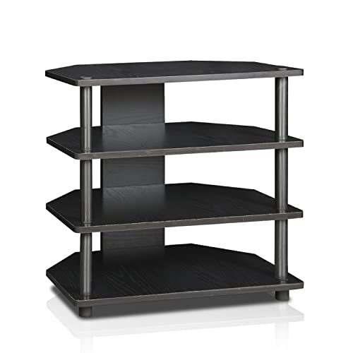 Furinno Turn-N-Tube Easy Assembly 4-Tier Petite TV Stand , Blackwood