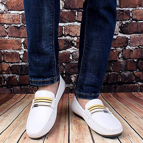Respirant ons white Marche Homme Printemps Pour amp; Chaussures De 40 Lazy Conduite Shoes Hy automne Confort Casual Slip Mocassins qTBwOaxAz