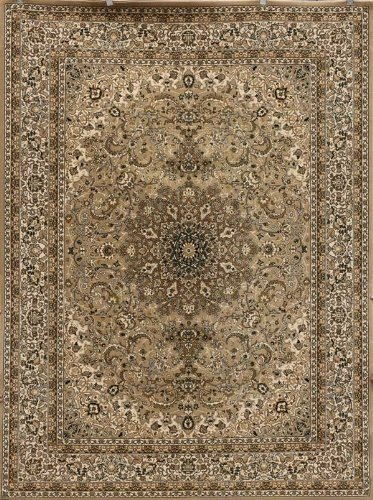 Dunes Beige Traditional Isfahan High Density 1 Inch Thick Wool 1.5 Million Point Persian Area Rugs 5'2 x (Beige Persian Wool Rug)