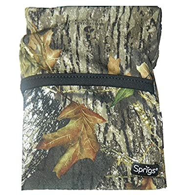 Sprigs Fleece Banjees Wrist Wallet,One Size,Mossy Oak Green Camo/Black