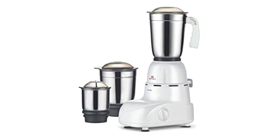 Bajaj Glory 500 Watt Mixer Grinder with 3 Jars  White  Mixer Grinders