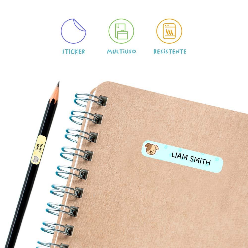 40 etichette di fogli laminati FUNNY VEHICLES Adesivi personalizzati con il tuo testo Adesivi con disegni e decorazioni di veicoli con testo personalizzato