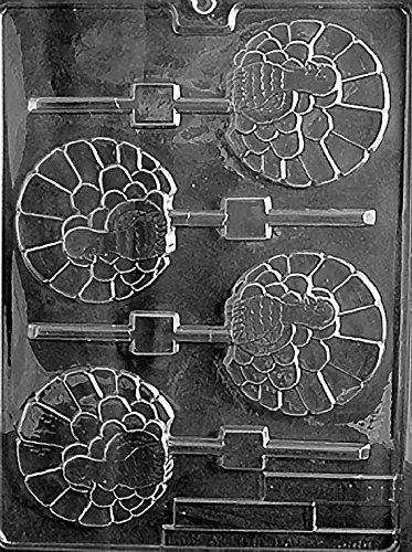 Fancy Turkey Lollipop Chocolate Mold - T011 - Includes Melting & Chocolate Molding Instructions ()