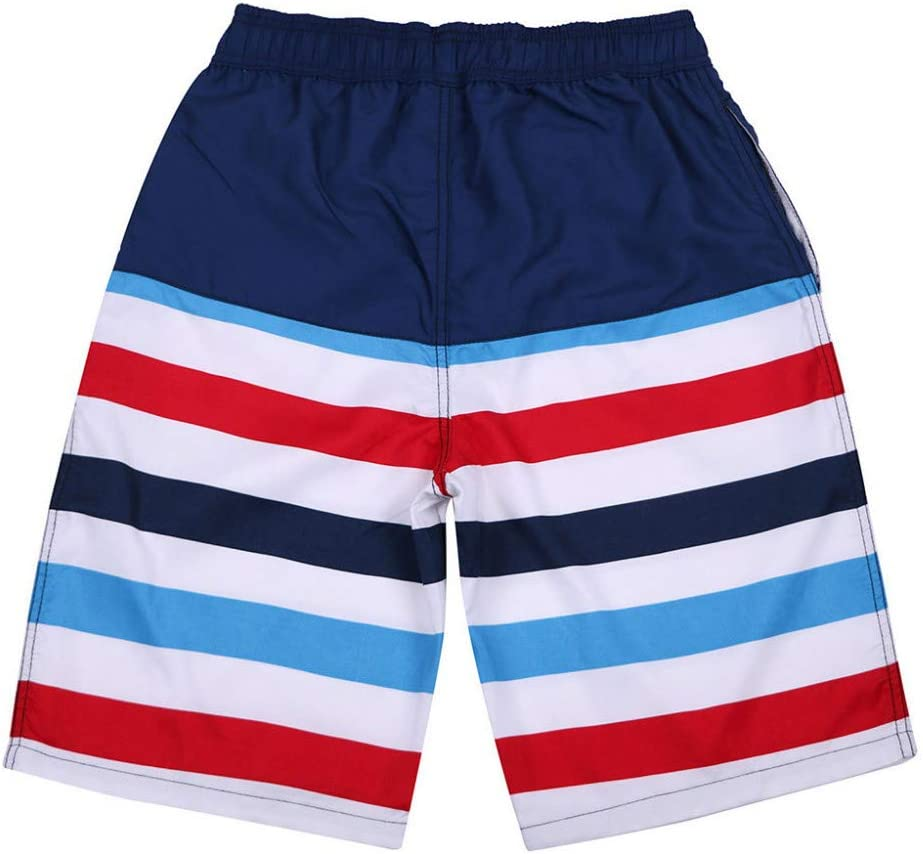 RCFRGV Beach shorts Men'S Striped Casual Beach Shorts Loose Quick-Drying Sweatpants Running Surfing Shorts 4XL