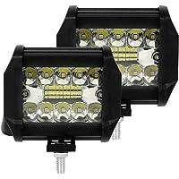 2PCS Faro LED Trabajo 12V 200W 6000K IP68 Impermeable Foco de Trabajo Faros Led Tractor para Off-road Tractor Camión…