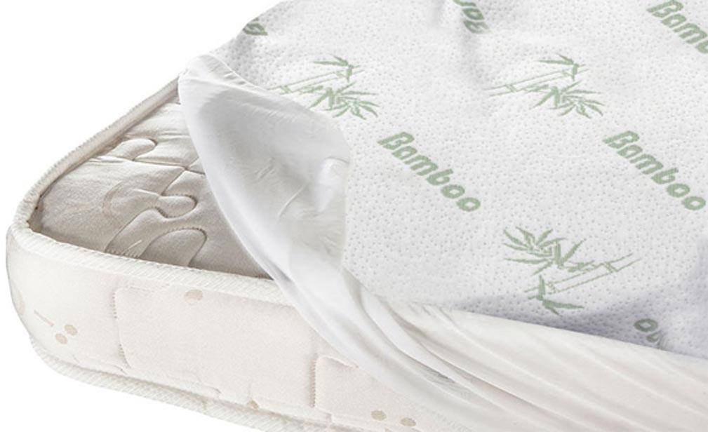 MiCasa Hypoallergenic Waterproof Mattress Protector Pad With Stretched fitted Deep Pocket Breathable Fiber bamboo, anti-fungal, Antibacterial, and Antimicrobial (Twin)