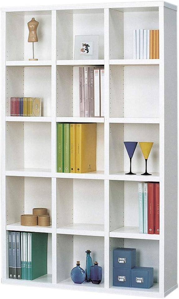 本棚 1018 ホワイト 幅110 奥行30 高さ180cm コミック 大容量 収納 棚 木製 書棚 家具 L1