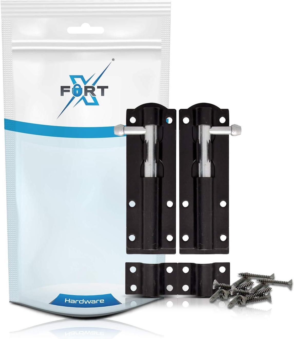 Gate /& Schuppen T/üren ideal f/ür Garten wei/ß Slide T/ür Bolt Lock 2/PACK Heavy Duty Tower Bolt