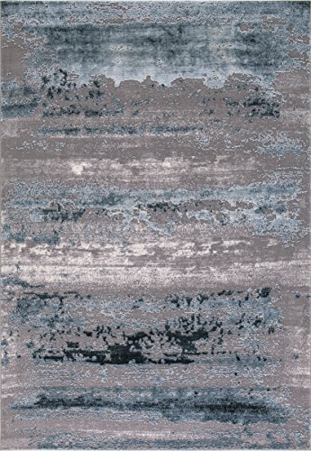 """Wow Home Concord Global Thema Lakeside Teal - Gray Area Rug 5'3""""X7'3"""" from Concord Global Trading"""
