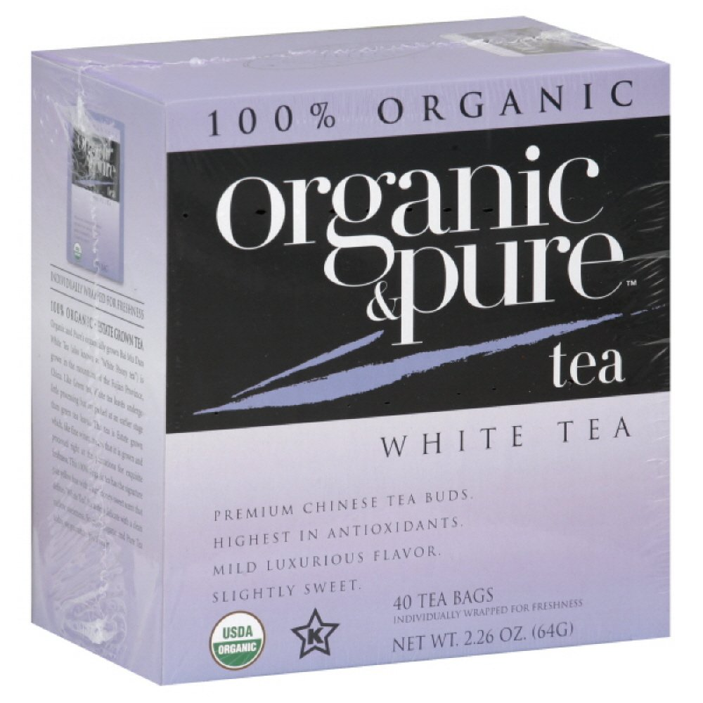 Organic & Pure White Tea, 40-count (Pack of6)