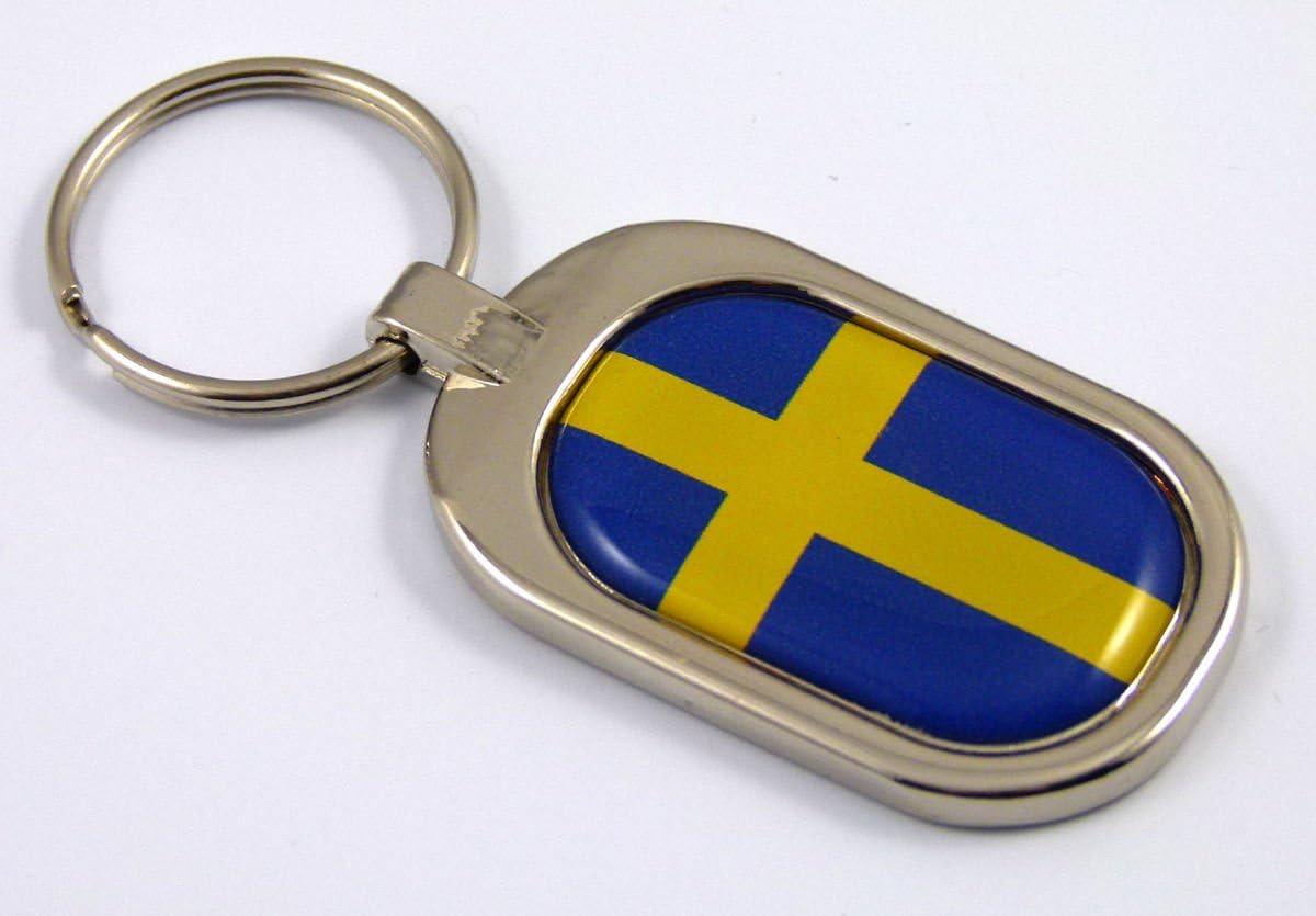 Switzerland Flag Key Chain metal chrome plated keychain key fob keyfob Swiss