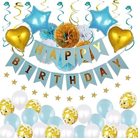 Toyvian 38 Piezas Kits de globos de feliz cumpleaños para ...
