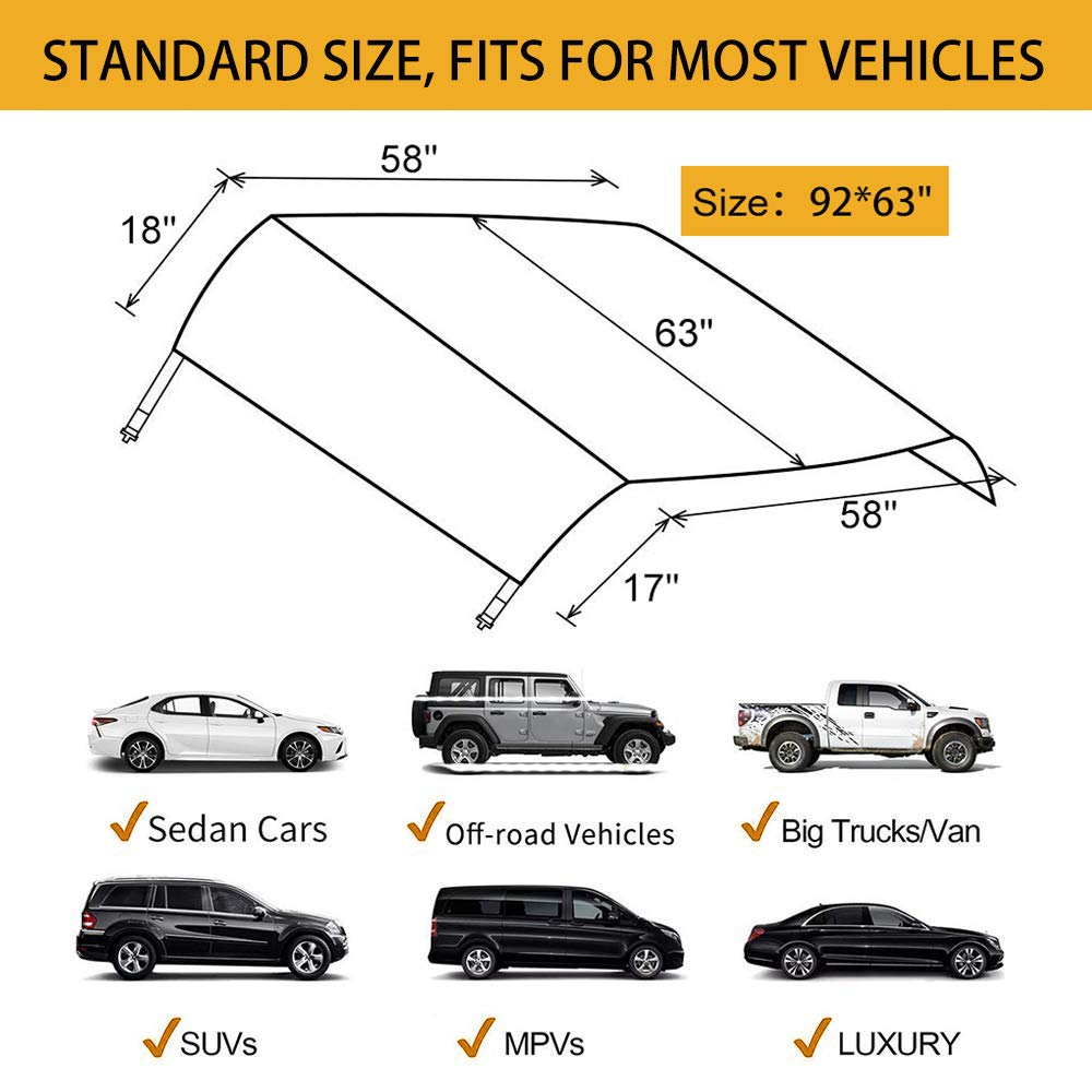 Snow Windshield Cover Protect The Windshield and Wiper from Ice,Snow Windshield Snow Cover for Car Frost Frost Guard Windshield Cover for Most Vehicles