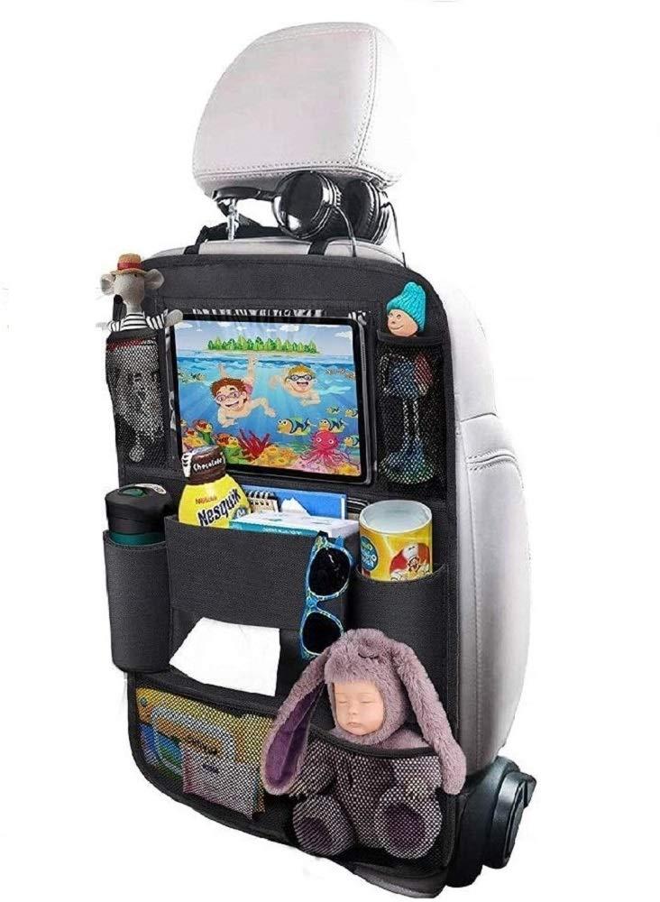 Heyham Auto Rückenlehnenschutz 1 Stück Auto Rücksitz Organizer Für Kinder Wasserdicht Autositzschoner Kick Matten Schutz Für Autositz Mit 10 Zoll Tablet Halter 8 Aufbewahrungstaschen Rücksitz Baby