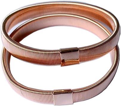 1 Paire halterlose Straps Bas M S-M 7 cm spitzenrand pink//rose brillant G