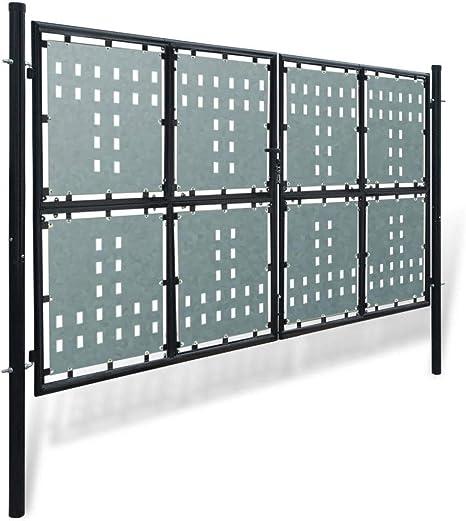 mewmewcat Verjas abatibles Puerta de Jardín de Hierro 300 x 225 cm Negro: Amazon.es: Deportes y aire libre