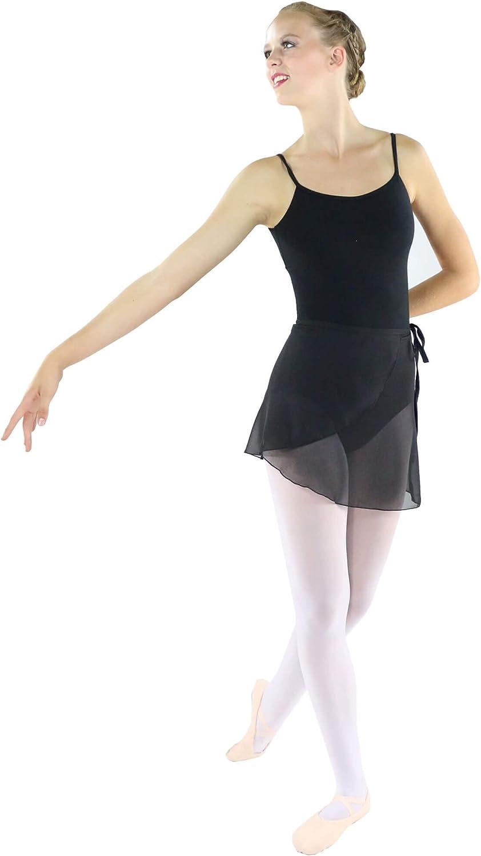 Danzcue Mujer Abrigo de la Danza de Ballet Gasa Falda con Lazo de ...