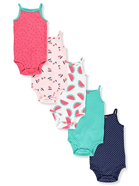 a71d655f5e Carter's Baby Girls' 5-Pack Sleeveless Bodysuits