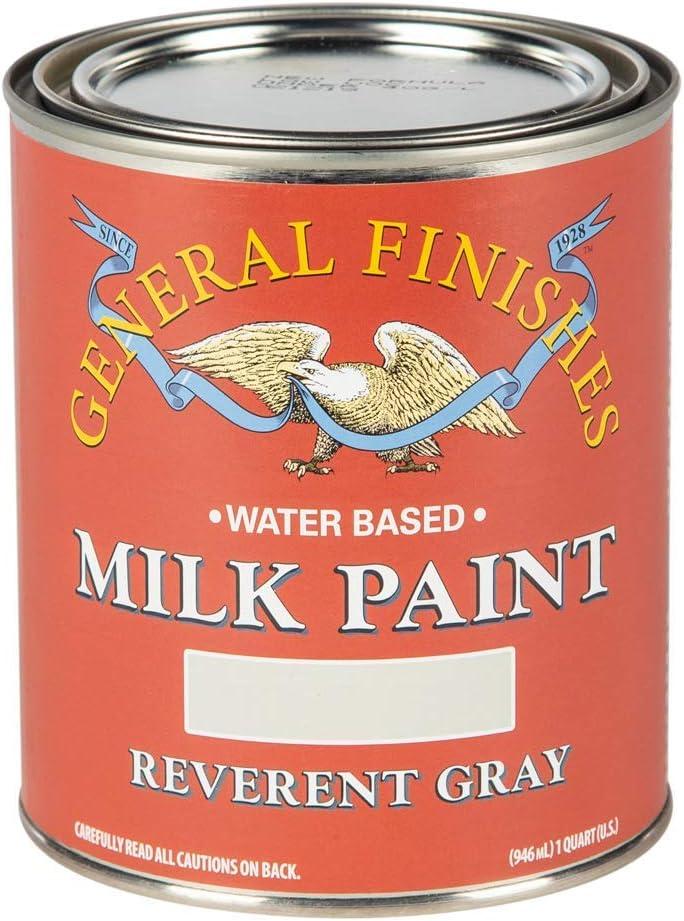 General Finishes Water Based Milk Paint, 1 Quart, Reverent Gray