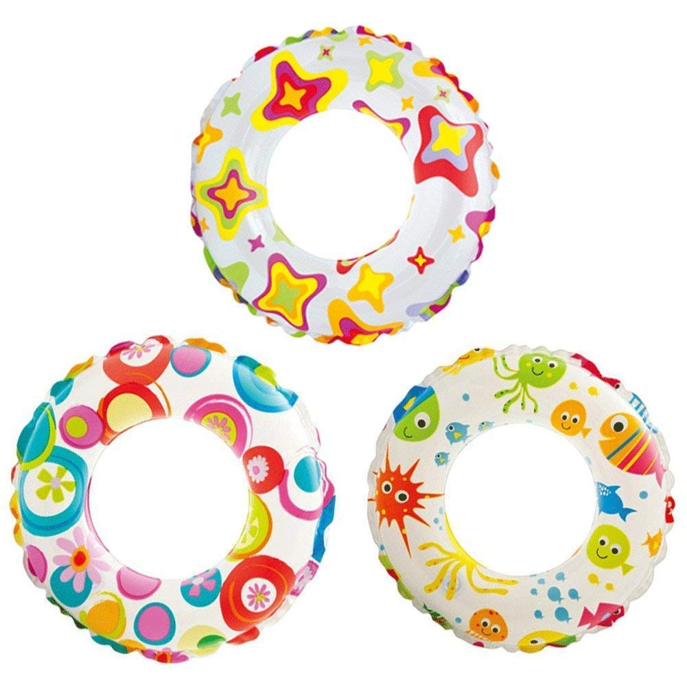 """Intex Recreation 59230EP Lively Print Swim Ring 20"""", assorted designs (3-Pack)"""