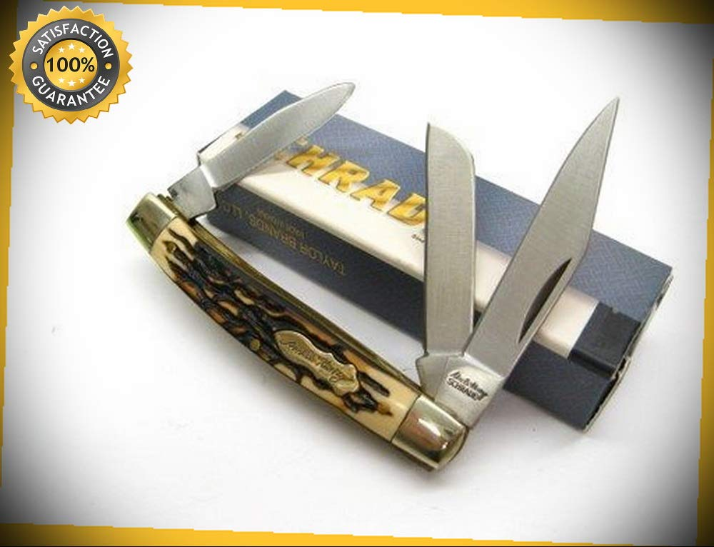 Uncle Henry Rancher 3 Blade Folder Folding Pocket Sharp Knife 834UH perfect for outdoor camping hunting by KARPPP