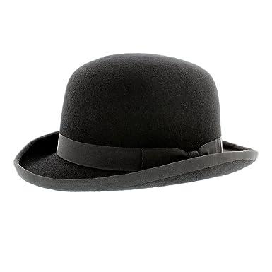 Whiteley Black Wool Felt Bowler Hat  Amazon.co.uk  Clothing c3e6f92aa8f