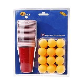 JAGENIE Beer Pong Drinking Game party starter set bicchieri per palle di Natale pub BBQ Toy indoor Fun