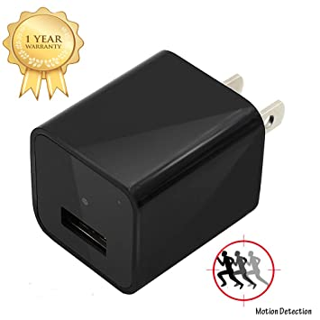 Charger Camera Adapter EOVAS 1080P HD USB Wall Charger Camer...