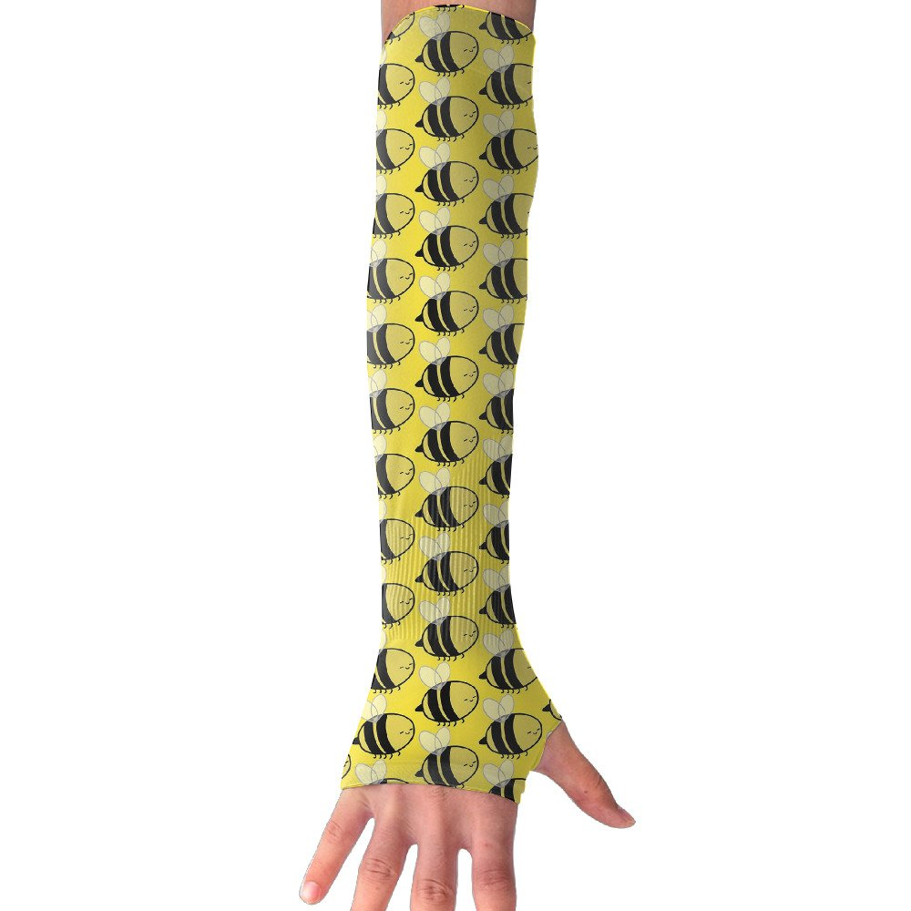 Suining Unisex Cute Bee Sunscreen Outdoor Sports Arm Warmer Long Sleeves Glove