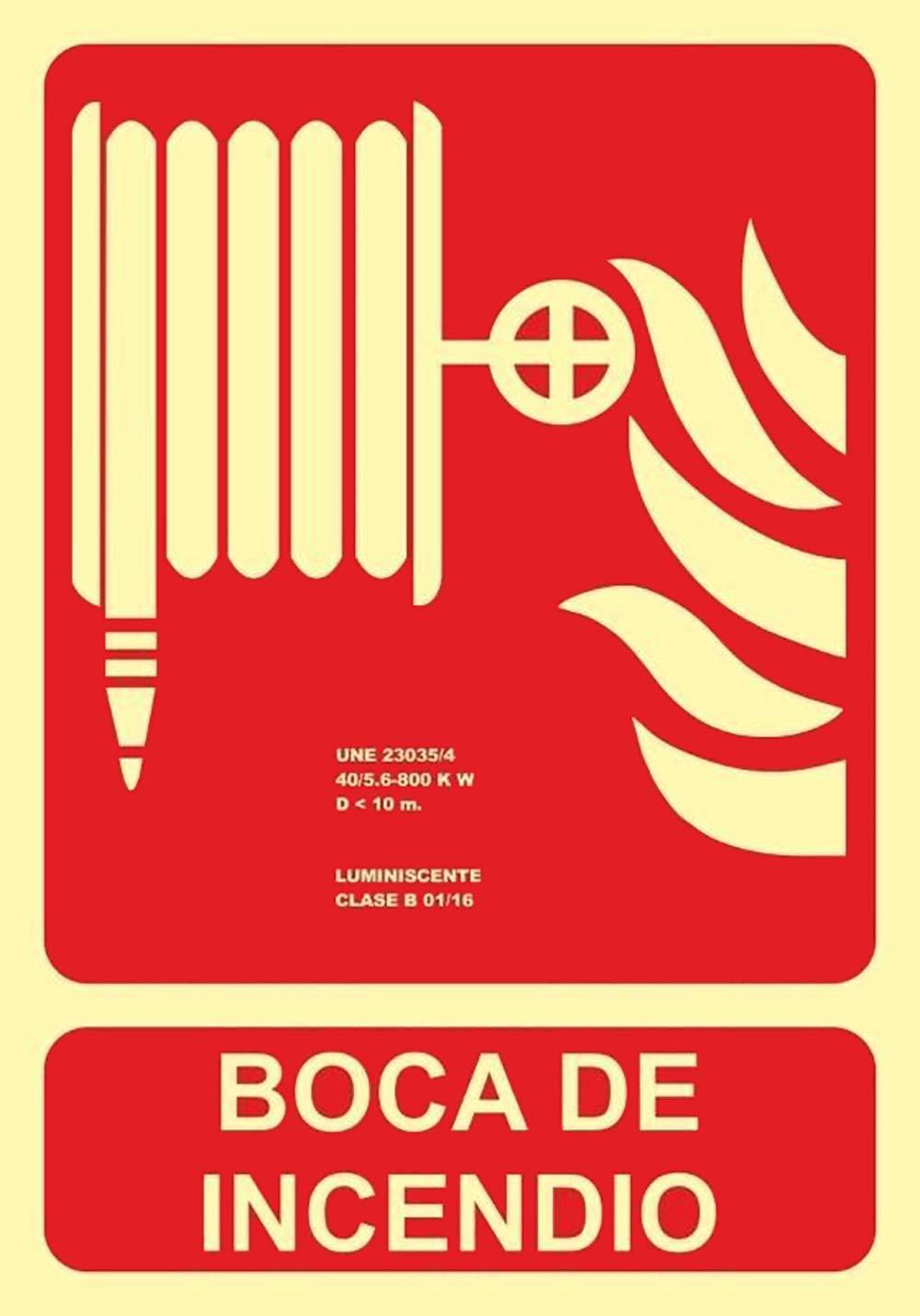 MovilCom® - Señal luminiscente BOCA DE INCENDIO PVC 0,4 ...