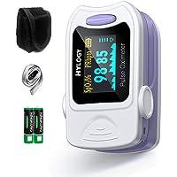 Oxímetro de Pulso, HYLOGY Pulsioxímetro de dedo, Portátil Pulsómetro Fácil de leer Pulsioxímetro de dedo Para el cuidado…