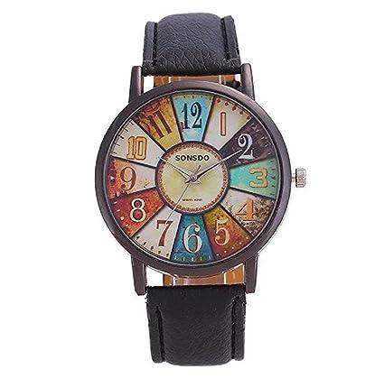 ICHQ - Reloj de pulsera digital para mujer, cuarzo, diseño retro, correa de