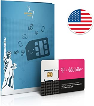 Prepaid Sim Karte Usa 10gb 4g Lte Unbegrenzte Amazon De