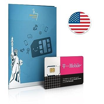 SIM prepago EEUU - 10GB 4G LTE - llamadas y mensajes de texto ilimitadas - 30 Días