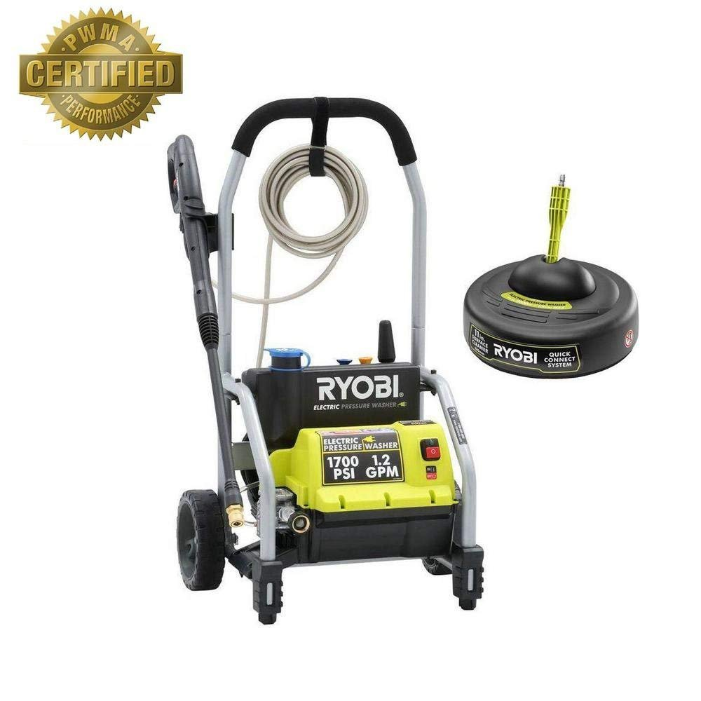 Ryobi 1,700-PSI 1.2-GPM Electric Pressure Washer with 11 in. Surface Cleaner RY14122SB-ECOM