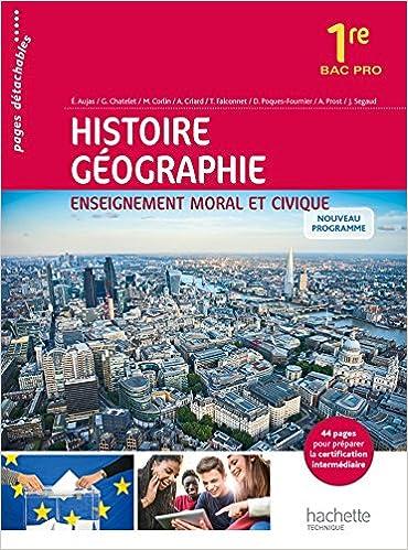 Livre gratuits Histoire - Géographie - Enseignement moral et civique 1re Bac Pro- Livre élève - Ed. 2016 pdf, epub ebook