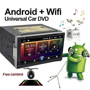 Actualización versión 7 pulgadas WIFI Modelo Android 6.0 Qure Core Doble Din coche dvd reproductor estéreo en Dash Head Unidad GPS Navegación para coche ...
