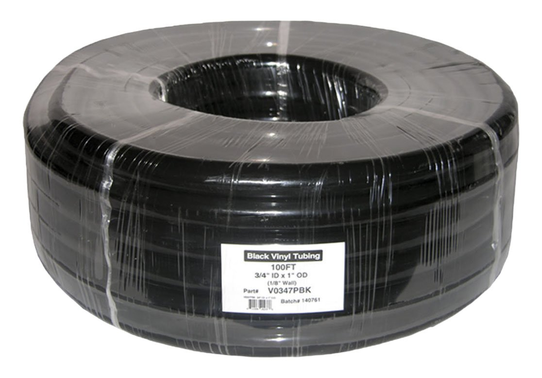 Plutus Brands 3/8 x 1/2 x 1/16 Wall PVC Tubing Coil, 100'