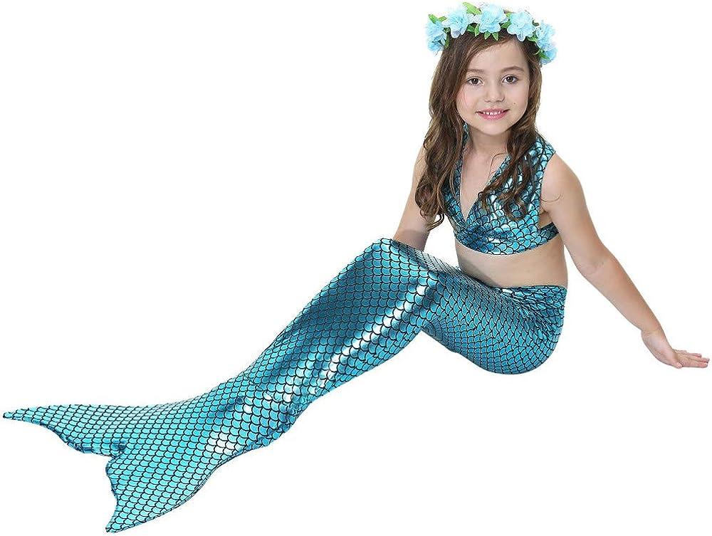 Girl Cosplay Swimsuit Mermaid Swimsuit Mermaid Tail Child Swimsuit Bikini