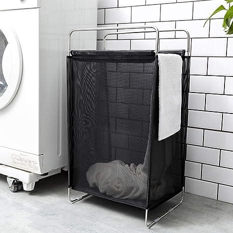 RKY Cesta de lavanderia Cesto de Ropa PVC/ABS/Acero ...