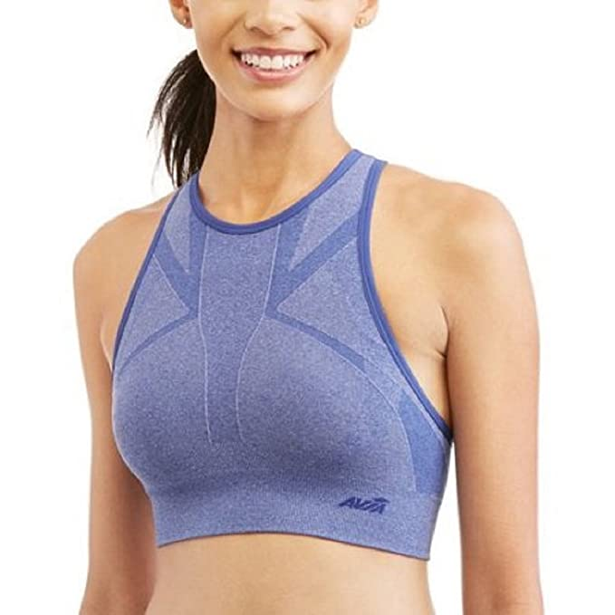 896ef66c182c3 Image Unavailable. Image not available for. Color  Avia Women s new size L  12-14 Active Low Impact High Neck Seamless Sports Bra