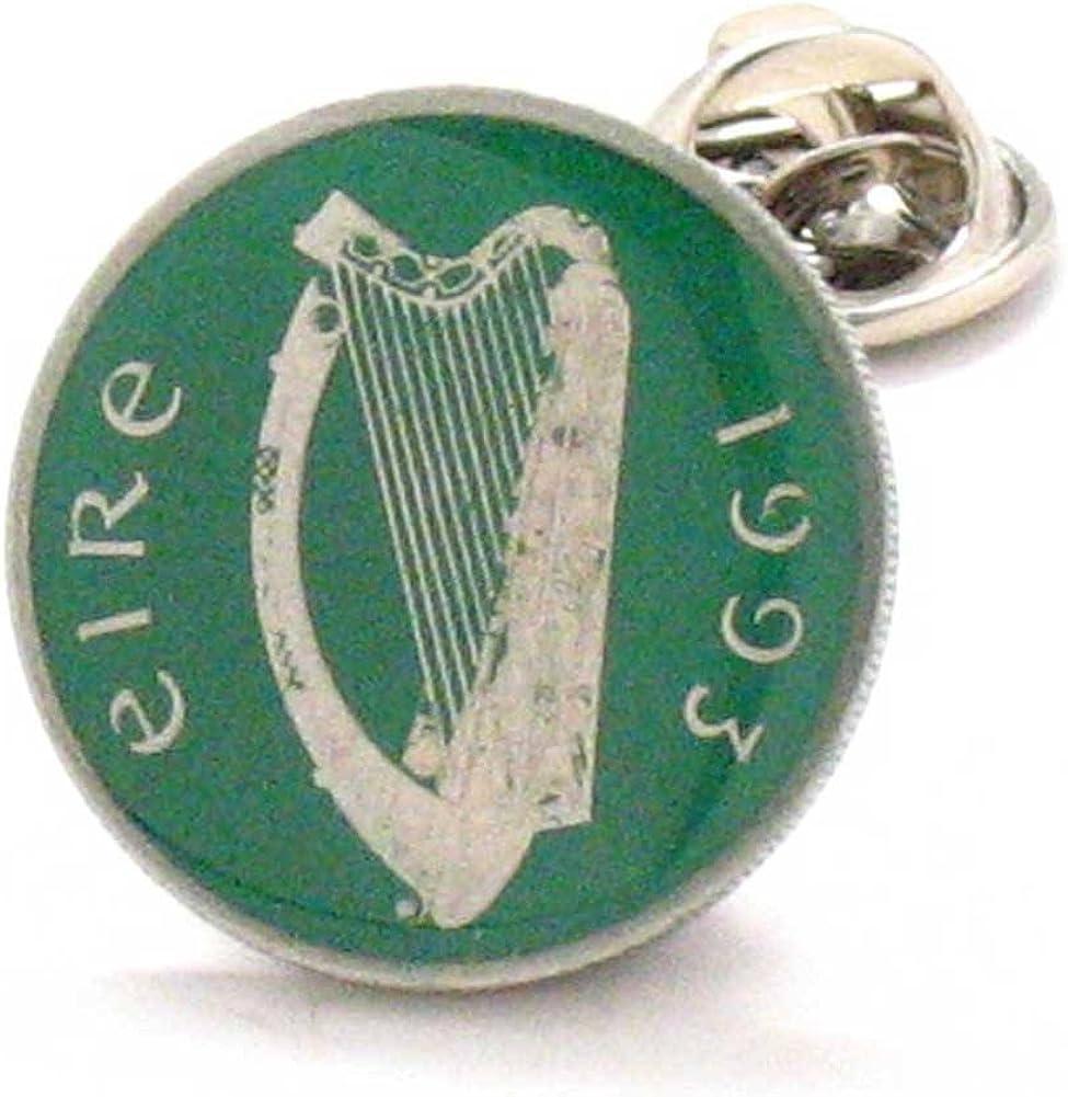 Marcos Villa Irish Coin Tie Tack Lapel Pin Ireland Lucky Green St. Patrick's Day Luck Éireann Bioráin Dublin