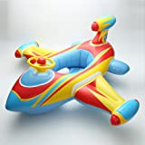 Baby Inflatable Airplane Kids Toddler Infant Swimming Float Seat Boat Pool Ring Ride-On Rider Water Mattress Swim for Children Toy Age 3 and Up