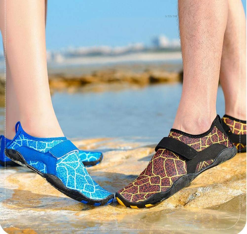 Hy Water Shoe 2019 Summer New Men Woman Swim Shoes,Quick Dry Barefoot Socks Shoes Garden Sports Aqua Shoes Boating Slipper On Surf,Blue,42