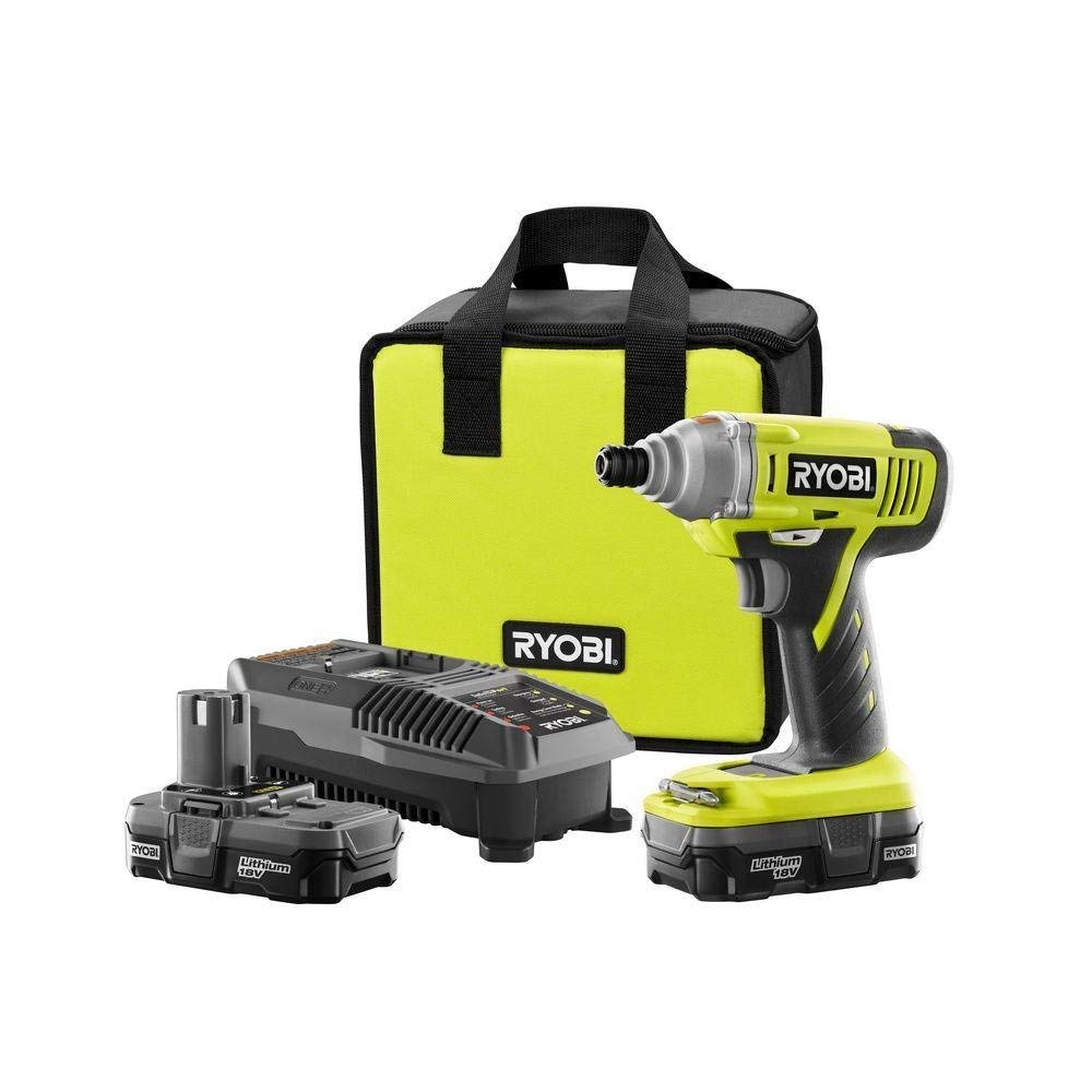 Ryobi P881 18v One Lithium-ion Impact Driver Kit